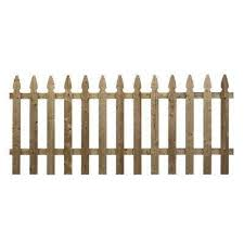3 5 Ft X 8 Ft Pressure Treated Pine French Gothic Fence Panel In 2020 Wood Fence Fence Panels Wood Picket Fence