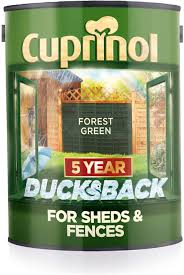 Cuprinol Ducksback 5 Year Waterproof For Sheds And Fences 5 L Forest Green Amazon Co Uk Diy Tools