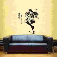 Monogatari Series Wall Sticker Anime Cartoon Car Decal Vinyl Wall Stickers Decor Home Decoration Anime Monogatari Wall Decal Wall Stickers Aliexpress