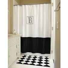 monogrammed classic shower curtain