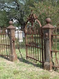 Rusted Iron Cemetery Fence Halloween Fence Halloween Headstone Halloween Graveyard