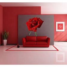 Shop Red Rose Full Color Decal Red Rose Full Color Sticker Colored Red Rose Sticker Decal Size 22x26 Overstock 13845356
