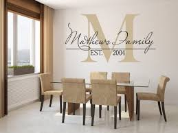 Amazon Com Family Name Wall Decal Custom Monogram Est Year Living Room Decor With Capital Letter 39 X 22 Home Kitchen