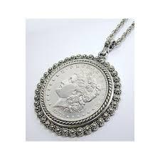dollar pendant with silvertone bezel