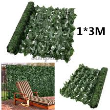 Avail 1 3m Artificial Faux Ivy Leaf Privacy Fence Screen Decor Panels Outdoor Hedge Shopee Philippines