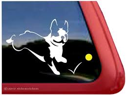 Custom Boston Terrier Dog Decals Stickers Nickerstickers