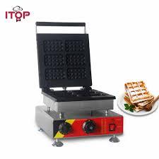 Miếng Dán Cường Lực ITop Điện Thương Mại Máy Làm Bánh Waffle Với 0 5 Phút  Hẹn Giờ, 1500W Bánh Món Tráng Miệng Bánh Waffle Sắt Lò Nướng Máy 110V 220V|