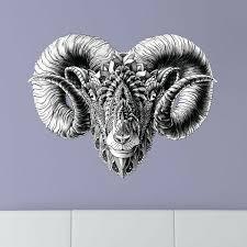 My Wonderful Walls Ornate Rams Head By Bioworkz Wall Decal Wayfair