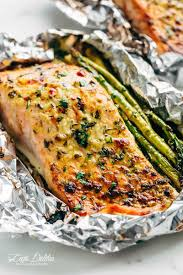 lemon parmesan salmon asparagus foil