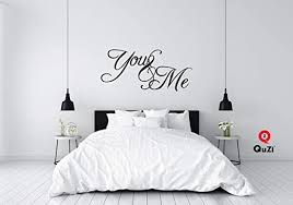 Amazon Com Quzi You And Me Home Decor Wall Decal Quote Sticker Art Vinyl Bedroom Living Room Decoration Kitchen Dining