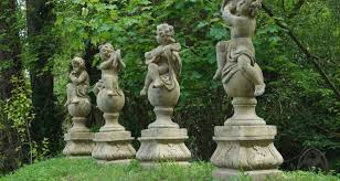 statues sundials and stags for in