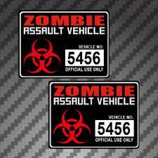 2x Zombie Assault Vehicle 4 Sticker Decal Graphics Apocalypse Permit Version 2 Ebay