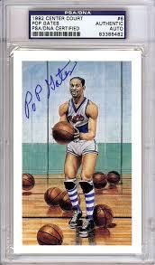 Pop Gates Autographed HOF Postcard PSA/DNA #83386482 - Mill Creek Sports