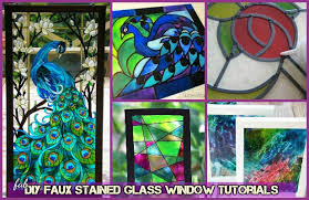 diy faux stained glass windows