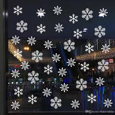 2020 Window Glass Sticker Christmas Xmas Wall Stickers Snowflake Snow Decal New Year Merry Christmas Car Home Bedroom Party Wedding Decoration From Blake Online 1 28 Dhgate Com