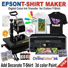 Brother Printer Plus Heat Press T Shirt Maker Machine Complete Starter Pack Tshirt Printing Business Tshirt Maker T Shirt Printer