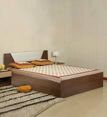 Buy Adrian King Size Bed with Storage in Wenge Finish by Parin ...