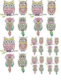 Owl Clan Ceramic Decals Enamel Decal Fusible Decal Glass Fusing Decal Waterslide Decal 141716l Xpression Decals