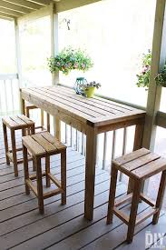 how to build outdoor bar stools the