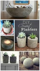 diy cement planters orbs tutorials