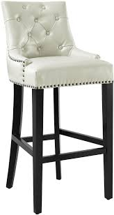 uptown cream leather counter stool