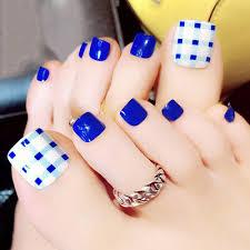 3d false toe nails french toe nail art