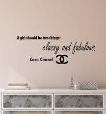 Vinyl Wall Decal Stickers Motivation Quote Coco Chanel Classy And Fabu Wallstickers4you