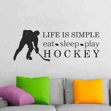 Coavas A Great Hockey Player Plays Where The Puck Is Going To Be Wall Stickers Quotes