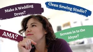Answering Your Questions While Making My Wedding Dress (and Cleaning my  Sewing Studio) | AMA - YouTube