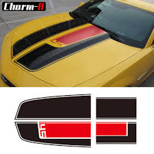 Car Styling Hood Rear Engine Trunk Cover Bonnet Vinyl Decal For Chevrolet Camaro Racing Stripes Stickers Accessories Car Stickers Aliexpress