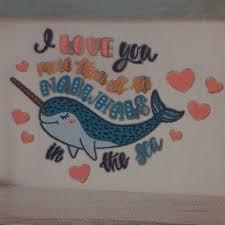 Wall Art Jumbo Narwhal I Love You Removable Wall Decal Poshmark