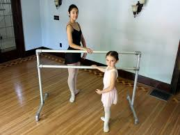 diy freestanding ballet barre for any