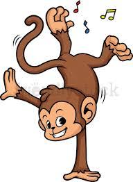 Monkey Dancing Cartoon Clipart Vector - FriendlyStock | Monkey  illustration, Cartoon clip art, Monkey dance