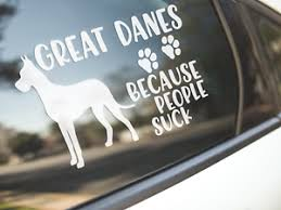 Car Sticker Great Dane Dog Bumper Decal Dogs Great Danes Funny People Suck Aust Ebay