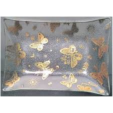 georges briard erflies bent glass tray