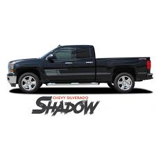 Chevy Silverado Rocker Stripes Shadow Vinyl Graphic Decal Lower Body Accent Kit For 2014 2015 2016 2017 2018 Chevy Silverado Chevy Car Vinyl Graphics