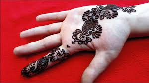 simple mehandi design for right hand front side