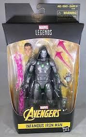 Marvel Legends 6 Inch Doctor Doom Infamous Iron Man Action Figure In Hand