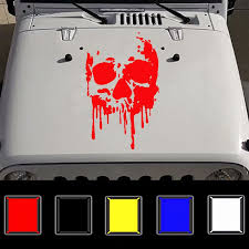 Wholesale Fashion Car Body Diy Waterproof Bloody Skulls Stylish Decal Stickers Set Red From China