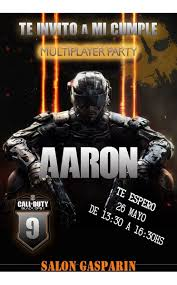 Tarjetas Invitaciones Cumpleanos Call Of Duty X10uni 60 00