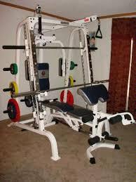 smith+machine+home+gym | Marcy Smith Machine Review The Marcy Smith Machine  in a home gym ... | Home gym reviews, Home gym, Smith machine