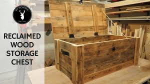 build a storage chest from reclaimed