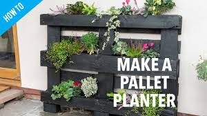 how to make a pallet planter you