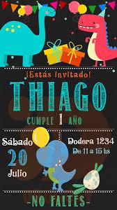 Invitacion Dinosaurio Digital Cumpleanos 160 00 En Mercado Libre