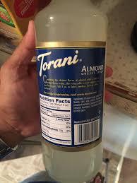 torani almond orgeat syrup alcohol