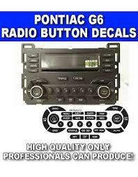 04 05 06 07 Gm Radio Button Repair Decals Stickers Pontiac G6 Ebay