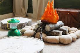 The Ragged Wren Campfire How To Camping Theme Room Kids Woodland Themed Kids Room