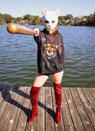 you made me do cat mask costume