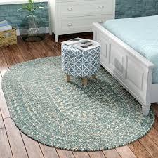 maleah teal area rug beachcrest home