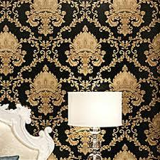10m 1 Roll Art Wall Decal Sticker Paper Diy Living Room Decor Black Gold Luxury